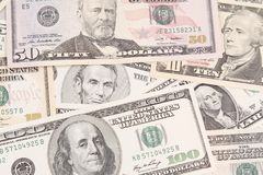 Amerikaanse bankbiljetten Stock Fotografie