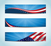 Amerikaanse Banner Royalty-vrije Stock Foto's