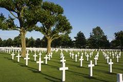 Amerikaanse Begraafplaats Stock Fotografie
