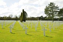 Amerikaanse Begraafplaats Colleville royalty-vrije stock afbeelding