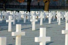 Amerikaanse Begraafplaats en Memeorial Stock Foto