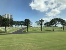 Amerikaanse begraafplaats in Manilla Stock Foto