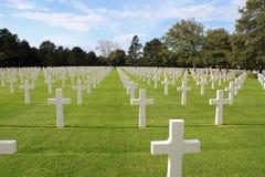 Amerikaanse Begraafplaats in Normandië Stock Afbeeldingen