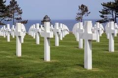 Amerikaanse Begraafplaats in Normandië Royalty-vrije Stock Afbeelding