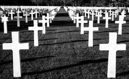 Amerikaanse Begraafplaats - Normandië, Frankrijk Royalty-vrije Stock Afbeeldingen