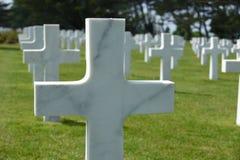 Amerikaanse begraafplaats in Normandië Frankrijk Stock Foto