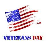 Amerikaanse beschadigde vlag en van de veteranendag viering eps10 Royalty-vrije Stock Afbeelding