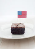 Amerikaanse brownies Stock Afbeelding