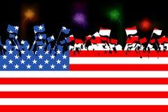 Amerikaanse Burger stock illustratie