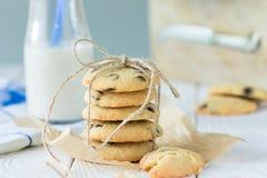 Amerikaanse Chocolade Horizontaal Chip Cookies, Royalty-vrije Stock Afbeelding