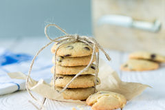 Amerikaanse Chocolade Horizontaal Chip Cookies, Royalty-vrije Stock Foto