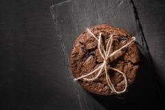 Amerikaanse chocoladekoekjes Royalty-vrije Stock Foto
