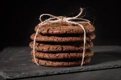 Amerikaanse chocoladekoekjes Royalty-vrije Stock Foto's