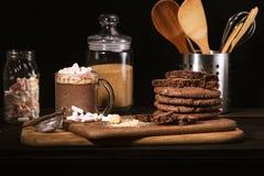 Amerikaanse chocoladekoekjes Stock Afbeeldingen