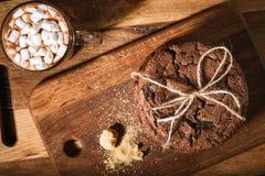 Amerikaanse chocoladekoekjes Stock Foto