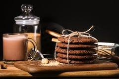 Amerikaanse chocoladekoekjes Royalty-vrije Stock Afbeeldingen