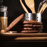 Amerikaanse chocoladekoekjes Stock Afbeelding