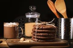 Amerikaanse chocoladekoekjes Royalty-vrije Stock Afbeelding