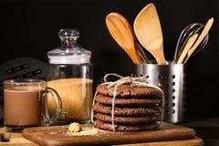 Amerikaanse chocoladekoekjes Royalty-vrije Stock Fotografie