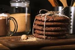 Amerikaanse chocoladekoekjes Stock Fotografie