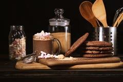 Amerikaanse chocoladekoekjes Stock Foto's