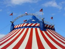 Amerikaanse circus grote hoogste tent Royalty-vrije Stock Foto