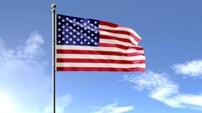 Amerikaanse 3D Vlag stock illustratie