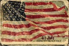 Amerikaanse de Dagachtergrond van de Vlagonafhankelijkheid royalty-vrije stock foto's