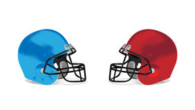 Amerikaanse de helmillustratio van het voetbaldetail Stock Afbeeldingen