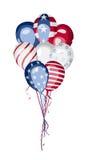 Amerikaanse de Nationale feestdagvector van de V.S. van de vlagballon Stock Afbeeldingen