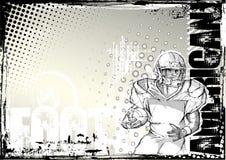 Amerikaanse de voetbal grunge achtergrond 2 van het potlood Stock Afbeeldingen