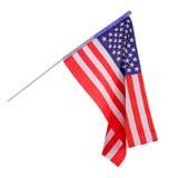 Amerikaanse die Vlag op wit wordt geïsoleerd Royalty-vrije Stock Foto