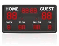 Amerikaanse digitale het scorebord vectorillustratie van voetbalsporten Royalty-vrije Stock Foto