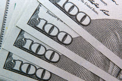 Amerikaanse dollar 100 bankbiljet Royalty-vrije Stock Foto's