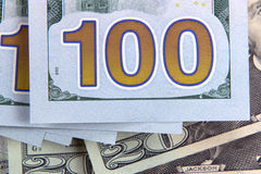 Amerikaanse dollar 100 bankbiljet Stock Afbeelding