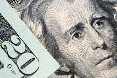 Amerikaanse dollar 20 bankbiljet Stock Afbeeldingen