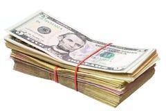 Amerikaanse dollar en Oekraïense hryvnia Stock Foto