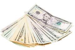 Amerikaanse dollar en Oekraïense hryvnia Stock Fotografie