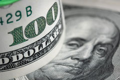 Amerikaanse dollarachtergrond Royalty-vrije Stock Foto's