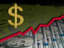 Amerikaanse dollarappreciatie, het concept van de de muntappreciatie van de V.S. royalty-vrije stock afbeeldingen