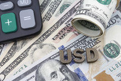 Amerikaanse dollarbankbiljetten Royalty-vrije Stock Afbeeldingen