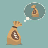 Amerikaanse dollardroom aan Chinese yuans Muntsymbool in vlak ontwerp Royalty-vrije Stock Foto's