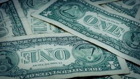 Amerikaanse dollarrekeningen het Roteren stock footage