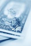 Amerikaanse dollars en brilliants stock afbeeldingen