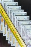 Amerikaanse dollars Honderd Dollarsbankbiljetten, 100 Royalty-vrije Stock Afbeeldingen