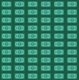 Amerikaanse dollars patroon royalty-vrije illustratie