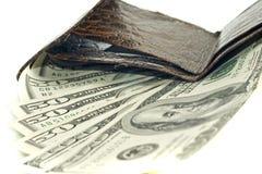 Amerikaanse dollars in portefeuille Royalty-vrije Stock Foto