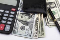 Amerikaanse dollars (USD) Bedrijfs concept Royalty-vrije Stock Foto