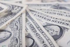 Amerikaanse dollars van de achtergrond rekeningenclose-up Stock Fotografie