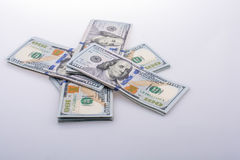 Amerikaanse 100 dollarsbankbiljetten Royalty-vrije Stock Afbeeldingen